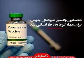 نخستین واکسن غیر فعال جهان برای مهار کرونا